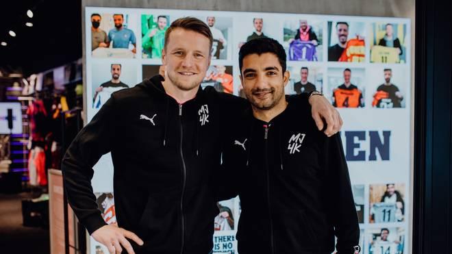 Sami Allagui (r.) spielte unter anderem von 2017 bis 2019 für den FC St. Pauli, Maik Franz war in der Bundesliga für den VfL Wolfsburg, den Karlsruher SC, Eintracht Frankfurt und Hertha BSC aktiv.