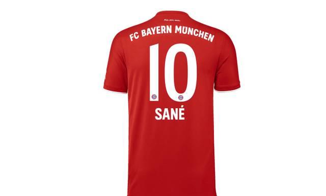 So sieht das Bayern-Trikot von Leroy Sané aus