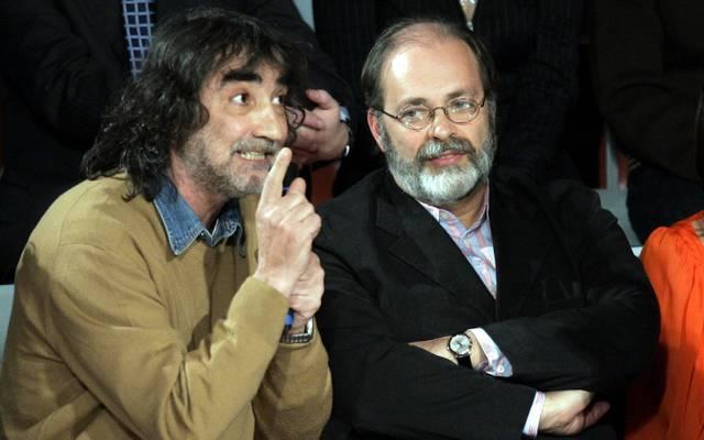 Ezio Vendrame (l.) mit dem italienischen Filmregisseur Marco Giusti