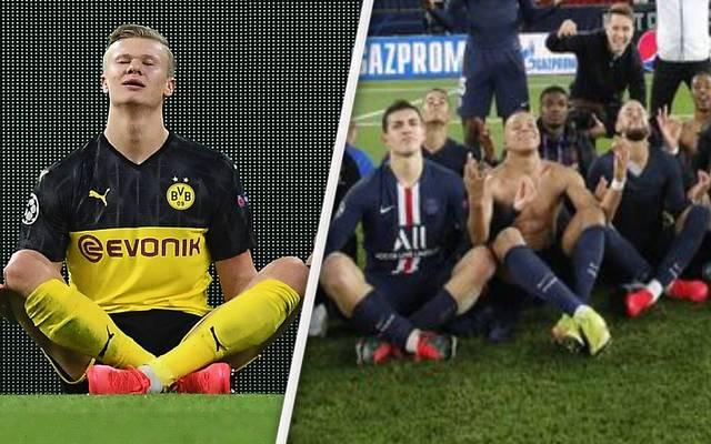 Die Spieler von PSG kopierten die Jubel-Pose von Erling Haaland