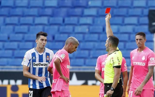 Gelb-Rot: Gegen Mallorca musste Marc Roca (l.) bei Espanyol Barcelona vorzeitig vom Feld