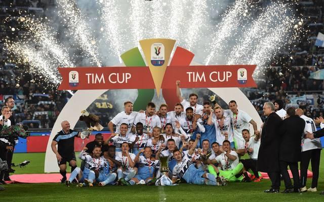 Lazio Rom feiert den Triumph bei der Coppa Italia