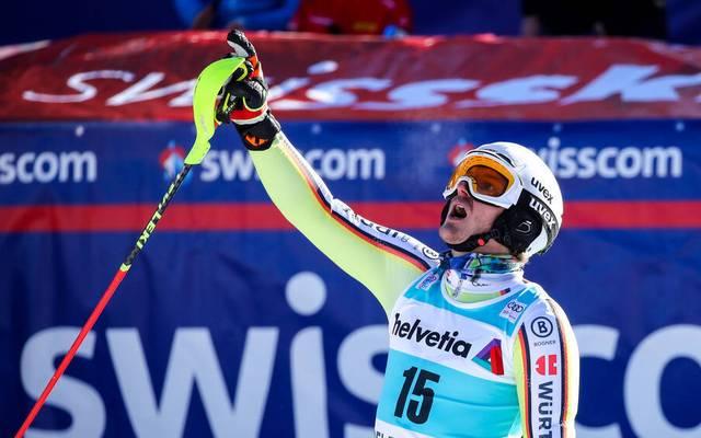 Linus Straßer ist mit den Plätzen eins und zwei in der Slalom-Elite angekommen