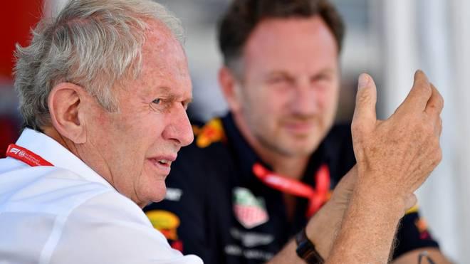 Helmut Marko (l.) hat Mercedes für deren Nachwuchsförderung kritisiert