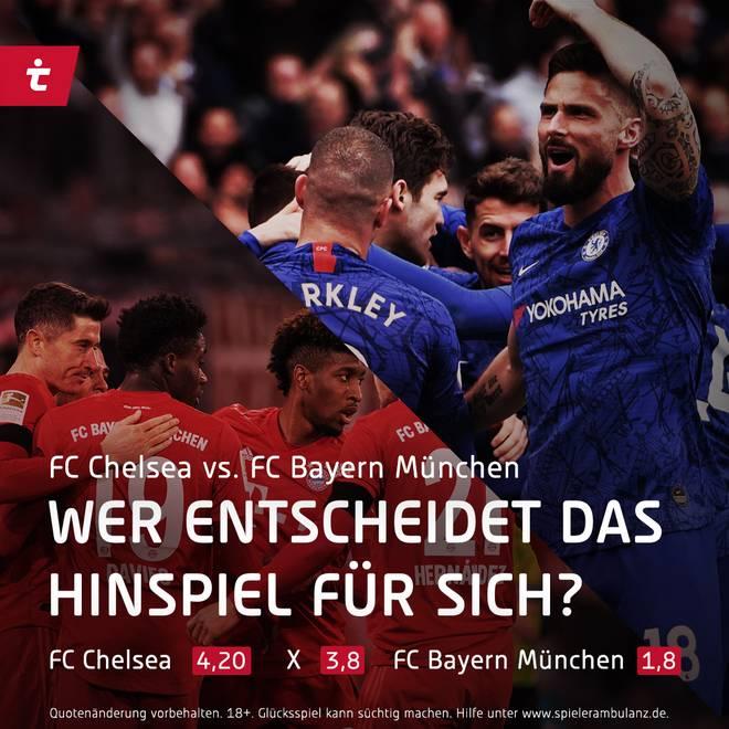 Chelsea gegen Bayern in der Champions League - wer gewinnt das Hinspiel?