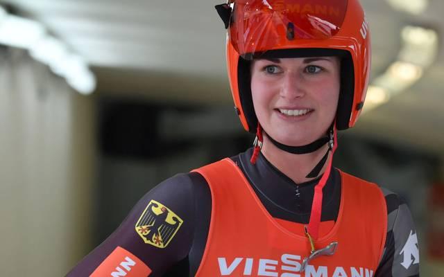 Julia Taubitz sicherte sich die WM-Silbermedaille