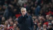 MANCHESTER, ENGLAND - DECEMBER 04: Jose Mourinho, Manager of Tottenham Hotspur reacts in the dying seconds of the Premier League match between Manchester United and Tottenham Hotspur at Old Trafford on December 04, 2019 in Manchester, United Kingdom. (Photo by Stu Forster/Getty Images)