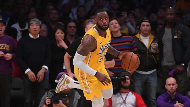 LeBron James und die Los Angeles Lakers treffen auf die Detroit Pistons