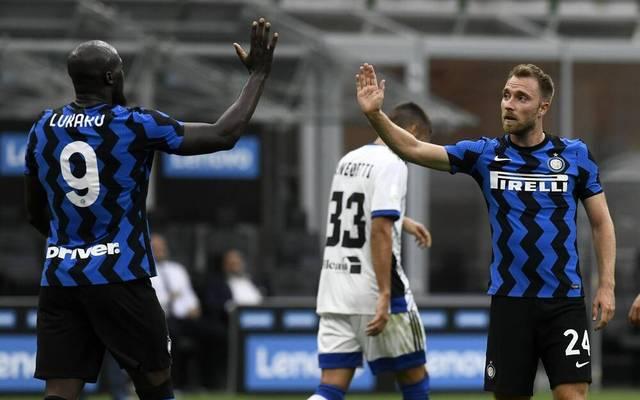 Christian Eriksen (r.) kam erst im vergangenen Winter zu Inter Mailand