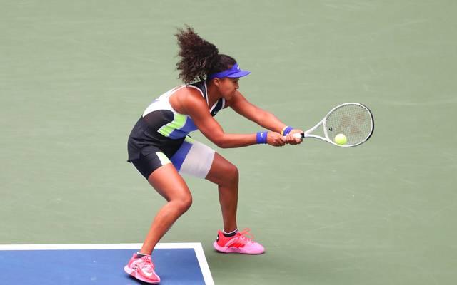 Naomi Osaka hatte bereits bei den US Open mit einer Bandage am Oberschenkel gespielt