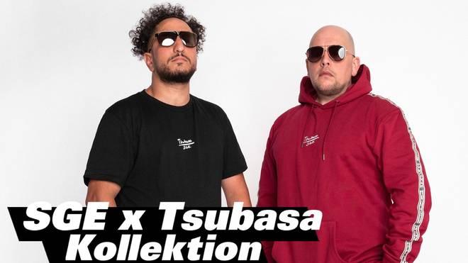 Die Frankfurter Rapper Celo & Abdi präsentieren den neuen Tsubasa-Look der Eintracht