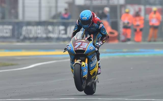 MOTO-PRIX-FRA-MOTO2 Bei Marcel Schrötters Comeback konnte sich Alex Marquez den Sieg in Frankreich sichern