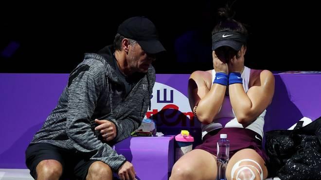 Bianca Andreescu leidet immer wieder an Knieproblemen