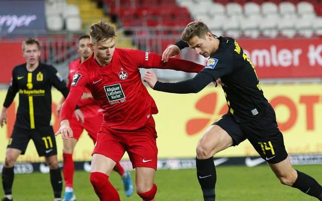 Dennis Dressel (r.) und der TSV 1860 München ließen dem 1. FC Kaiserslautern keine Chance