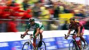 2001 ringt Voigt im Sprint Laurent Roux nieder und belegt bei der 7. Etappe durch die Vogessen Platz zwei