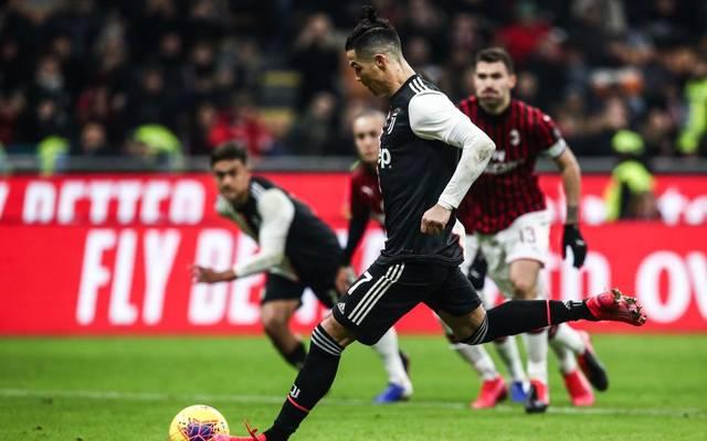 Cristiano Ronaldo rettete Juventus Turin mit seinem Ausgleichstor