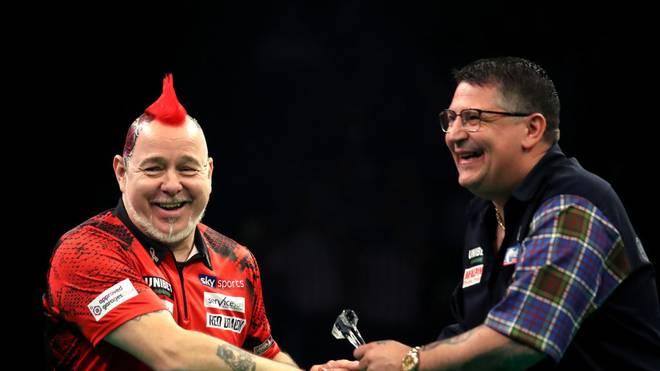 Peter Wright und Gary Anderson nehmen an der Unibet Premier League Darts teil
