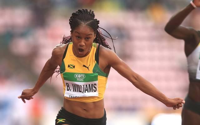 Briana Williams gehört zu den größten Sprinttalenten