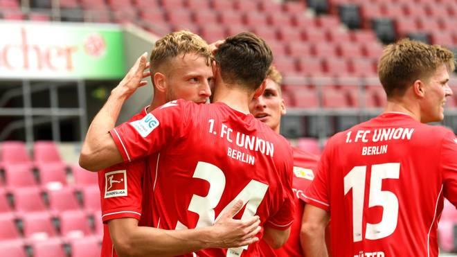 Marvin Friedrich (l.) brachte Union gegen Köln in Führung