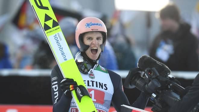 Karl Geiger wurde beim Neujahrsspringen in Garmisch-Partenkirchen Zweiter