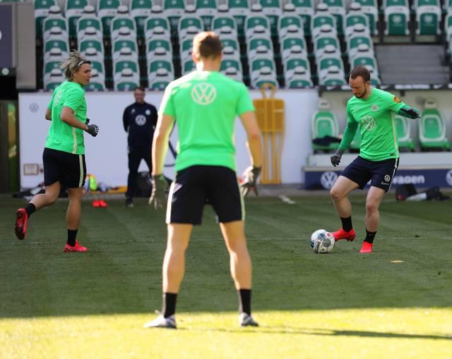 Der VfL Wolfsburg ist bereits seit Dienstag wieder im Mannschaftstraining