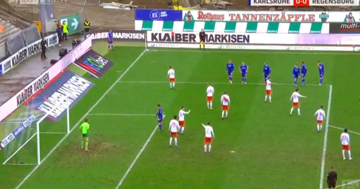 2. Bundesliga: Karlsruher SC verblüfft gegen Jahn Regenburg mit Eckball-Idee - SPORT1