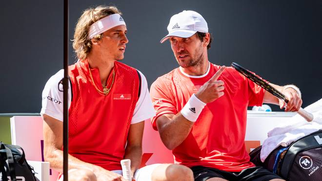 Mischa Zverev (r.) spielt desöfteren mit seinem Bruder Alexander Doppel