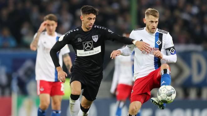 Aaron Hunt (r.) ist der Kapitän des Hamburger SV