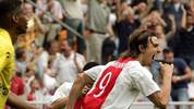 Ajax player Zlatan Ibrahimovic (R) celeb