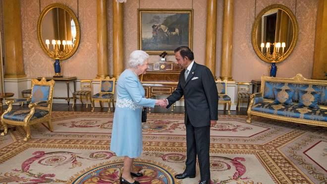 Brunais Sultan Hassanal Bolkiah bei einer Audienz bei Queen Elizabeth II im Dezember 2017