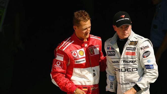 Michael Schumacher (l.) und Kimi Räikkönen während der Formel-1-Saison 2006