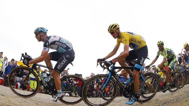 Tony Martin (l.) und Christopher Froome bei der Tour de France 2015