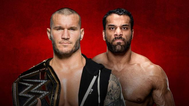 Randy Orton (l.) trifft bei WWE Backlash 2017 auf Jinder Mahal