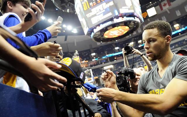 Stephen Curry ist bei den Fans sehr beliebt