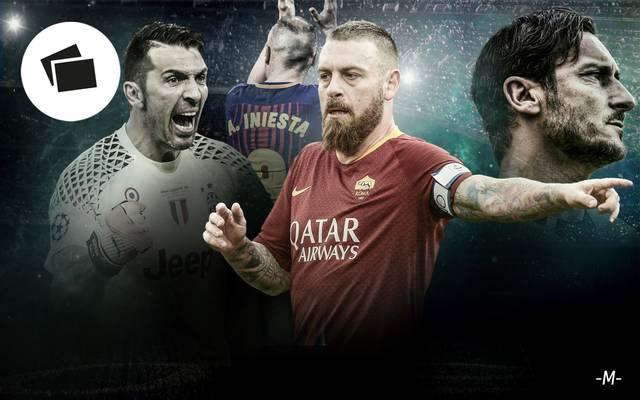 Daniele de Rossi (M.) verlässt die Roma am Ende der Saison