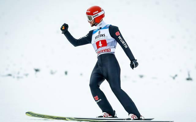 Markus Eisenbichler wurde bei der Vierschanzentournee bislang zweimal Zweiter