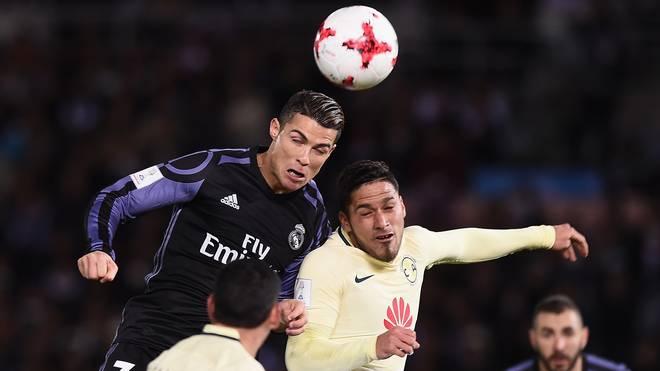Cristiano Ronaldo setzt sich im Halbfinale der Klub-WM im Kopfballduell durch
