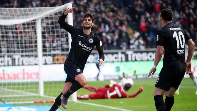 Goncalo Paciencia schoss Eintracht Frankfurt gegen die TSG Hoffenheim zum Sieg