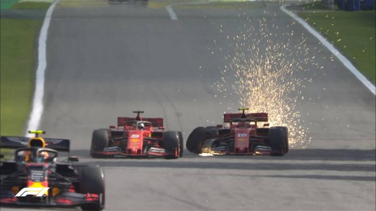 Sebastian Vettel und Charles Leclerc kollidieren in Brasilien