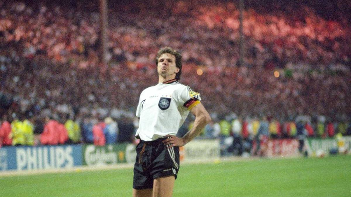 Andy Möller jubelte vor dem englischen Fanblock