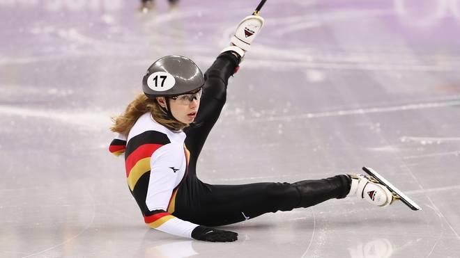 Shorttrack-WM: Anna Seidel erreicht 1500-m-Halbfinale, Anna Seidel kollidierte bei der WM mit der Chinesin Chunyu Qu
