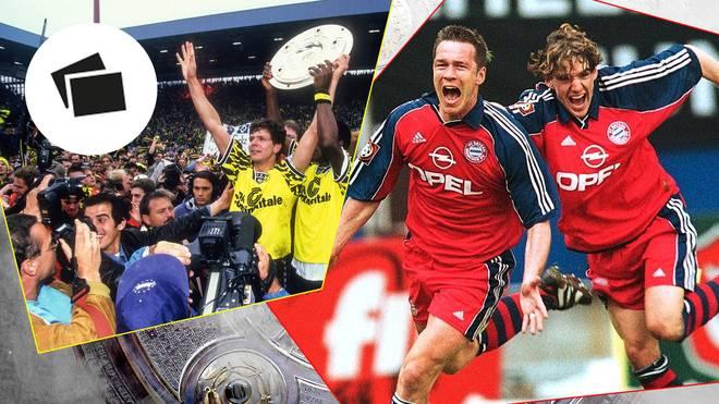 Sowohl der FC Bayern (r.) als auch Borussia Dortmund haben reichlich Erfahrung mit engen Titelentscheidungen