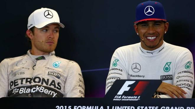 Nico Rosberg (l.) zog im Kampf um die WM den Kürzeren gegen Lewis Hamilton