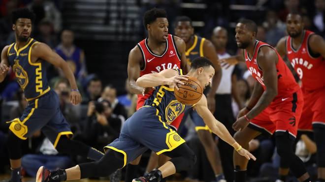 Stephen Curry gegen die Raptors