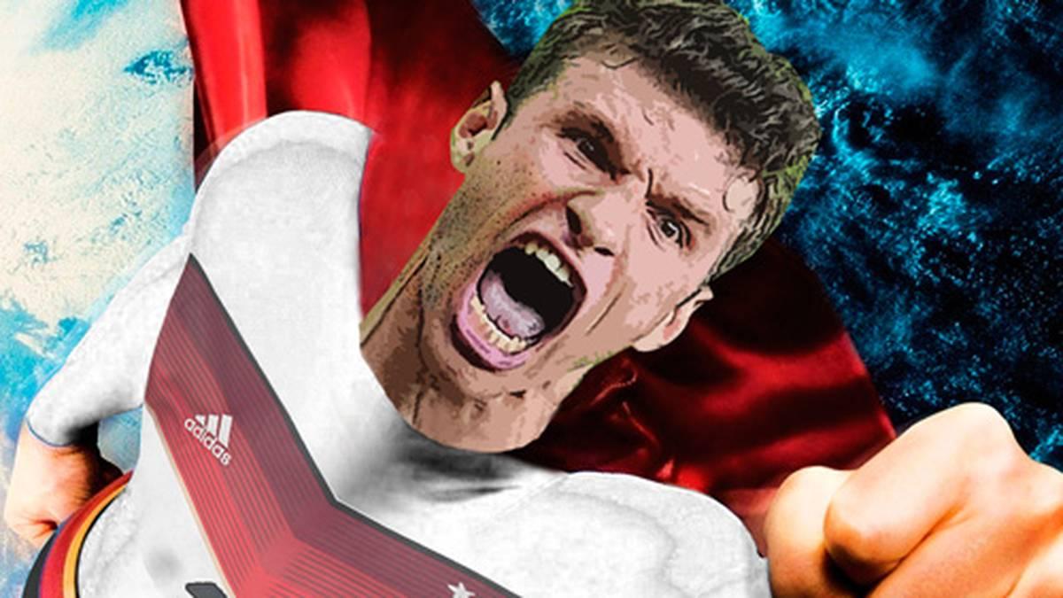 Weltmeister 2014, WM-Torschützenkönig 2010 und legitimer Jäger des Klose-Rekords. Stürmer Thomas Müller sorgt für Tore am Fließband und entzückt die Fußballfans. Zum WM-Titel gesellen sich nun die nächsten WM-Ehrungen: Als zweitbester Torjäger des Turniers in Brasilien erhält #esmuellert den Silbernen Schuh, zusätzlich gibt es als zweitbester Spieler den Silbernen Ball. SPORT1 zeigt die Bilder einer Ausnahmekarriere