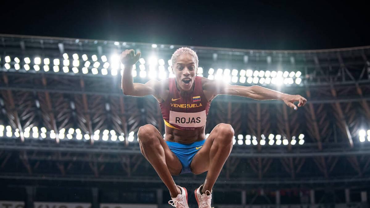 Yulimar Rojas stellte einen neuen Weltrekord im Dreisprung auf