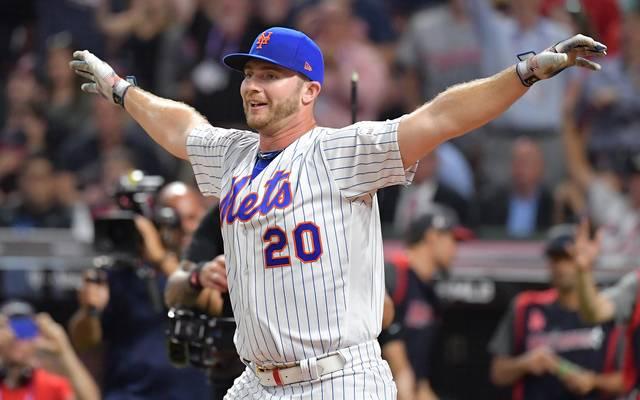 Pete Alonso von den New York Mets gewann das Home-Run-Derby