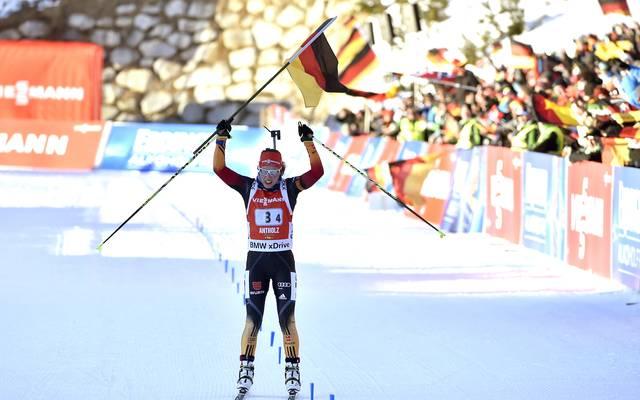 Laura Dahlmeier holt als Schlussläuferin 2015 WM-Gold mit der Staffel