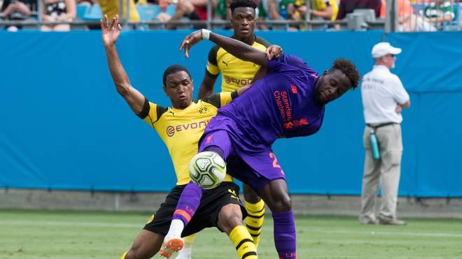 Divock Origi spielte in der Vorbereitung für Liverpool gegen Borussia Dortmund