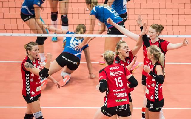 Dresdner SC besiegt Allianz MTV Stuttgart im DVV-Pokalfinale